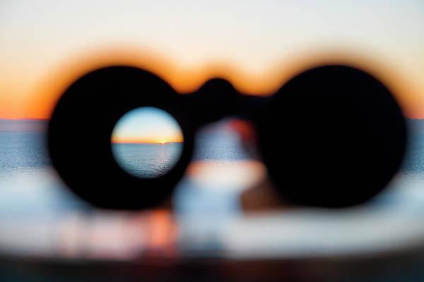 Binoculars Photograph - Sunset Through Binoculars From Cruise by Holger Leue