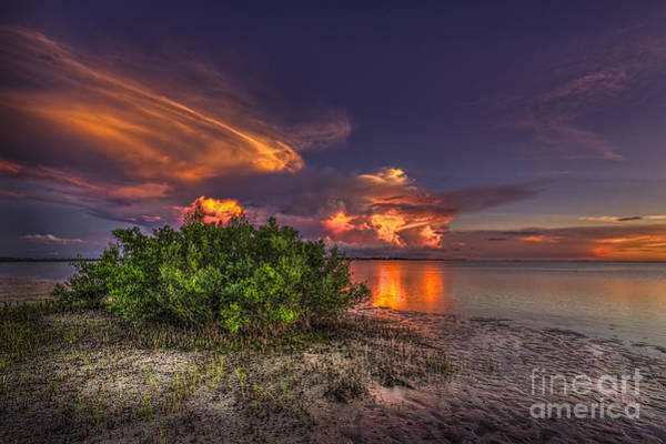 Low Tides Photograph - Sunset Thunder Storms by Marvin Spates