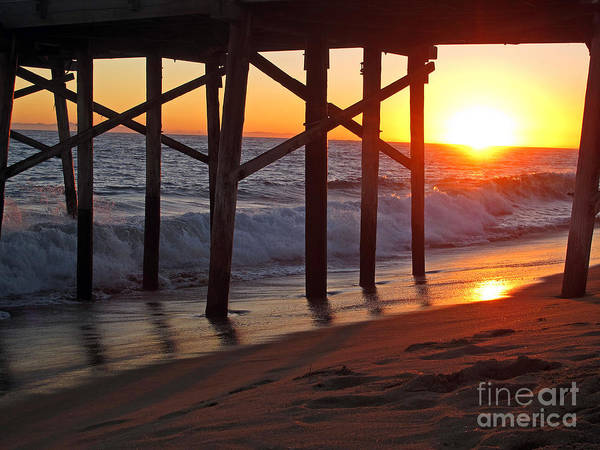 Photograph - Sunset Under The Pier by Kelly Holm