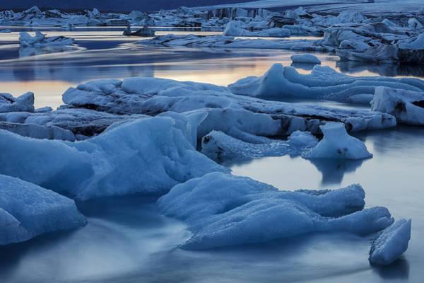 Photograph - Sunset Vatnajokull Glacier Jokalsarlon by Heike Odermatt