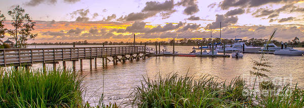 Photograph - Sunset View Boardwalk by Mike Covington