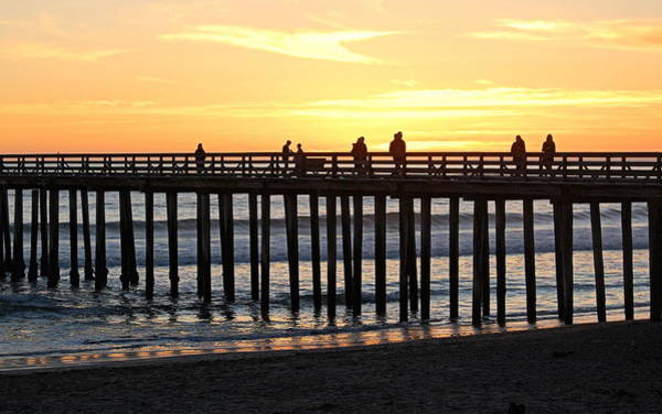 Photograph - Sunset View From The Pier by AJ  Schibig