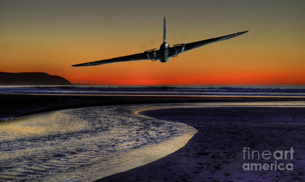 Avro Vulcan Wall Art - Photograph - Sunset Vulcan  by Rob Hawkins