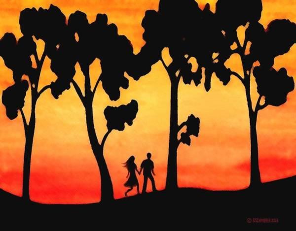 Painting - Sunset Walk by Sophia Schmierer