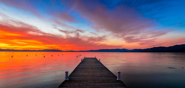 Clear Water Photograph - Sunset Walkway by Edgars Erglis