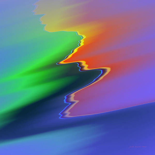 Digital Art - Sunset Wave by Judi Suni Hall