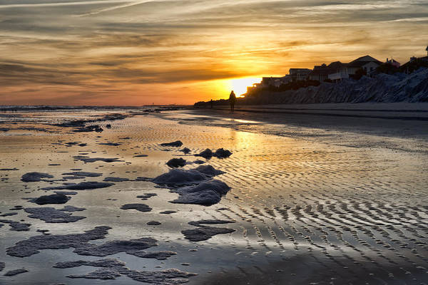 Sunset Wild Dunes Beach South Carolina Art Print