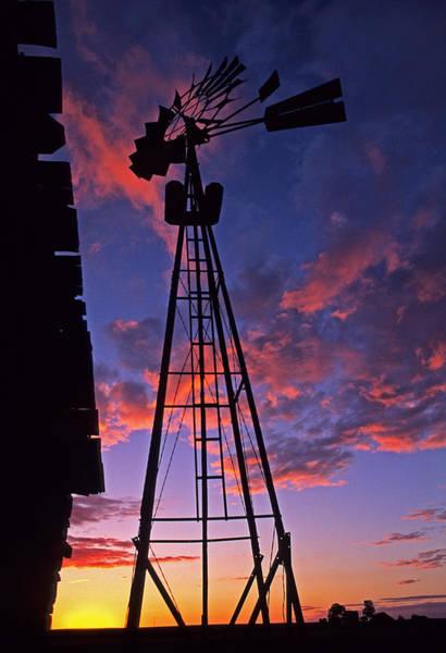 Wall Art - Photograph - Sunset Windmill by Latah Trail Foundation