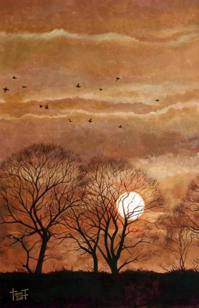 Twilight Drawing - Sunset, Windsor, 2010 by Cruz Jurado Traverso