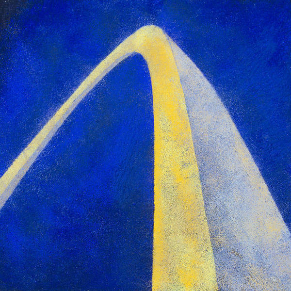 St Louis Arch Painting - Sunset's Reflection by Garry McMichael