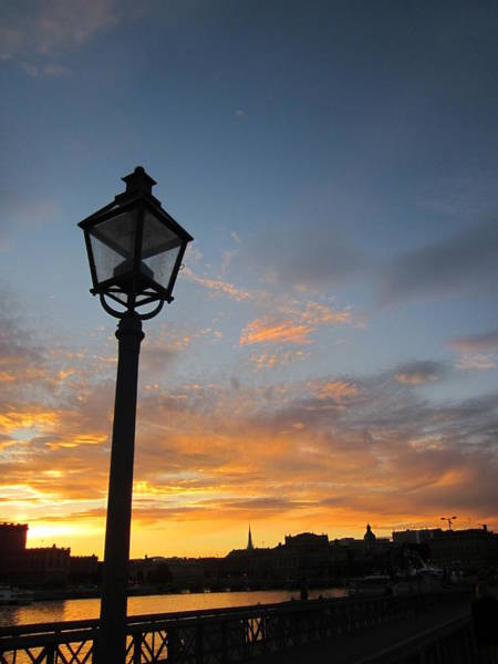 Photograph - Sunsetview Over Stockholm by Rosita Larsson
