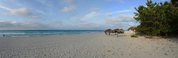 Palapa Wall Art - Photograph - Sunshades On The Beach, Varadero by Panoramic Images