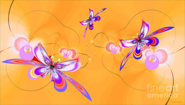 Wall Art - Painting - Sunshine Flowers And Butterflies by Heinz G Mielke