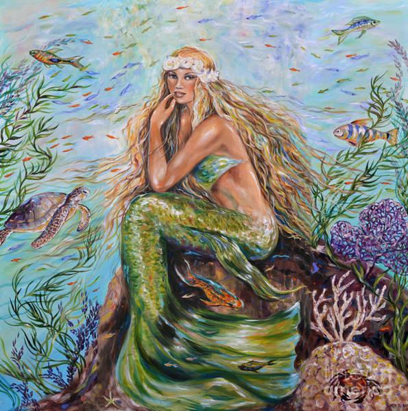 Sunshine Mermaid Square Art Print