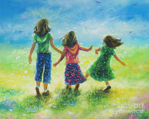 Wall Art - Painting - Sunshine Sisters by Vickie Wade