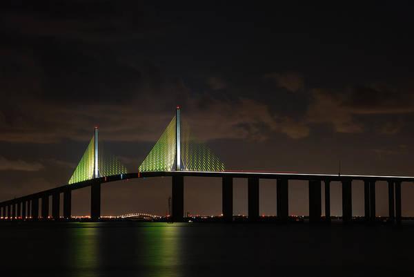 Photograph - Sunshine Skyway Bridge by Beverly Stapleton