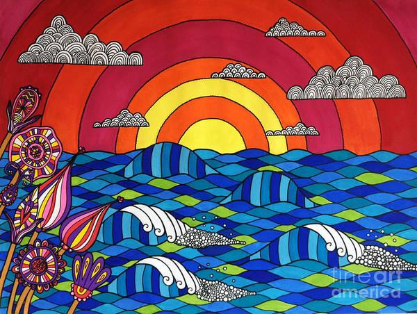 Red Sky Digital Art - Sunshine Through My Window by MGL Meiklejohn Graphics Licensing