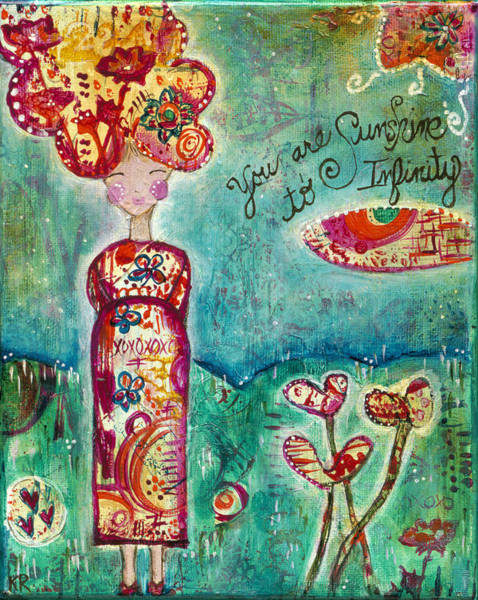Wall Art - Painting - Sunshine To Infinity by Kirsten Reed