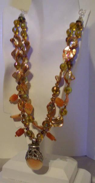 Freshwater Pearls Wall Art - Jewelry - Sunstone In Tibetan Pendant by Ruth Jarles