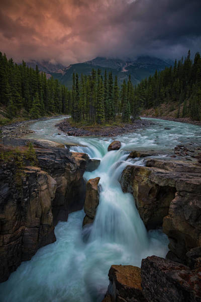 Water Fall Photograph - Sunwapta Falls by Michael Zheng