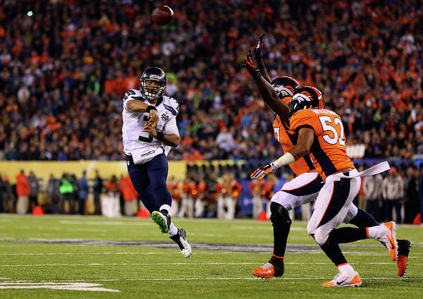 Photograph - Super Bowl Xlviii - Seattle Seahawks V by Elsa