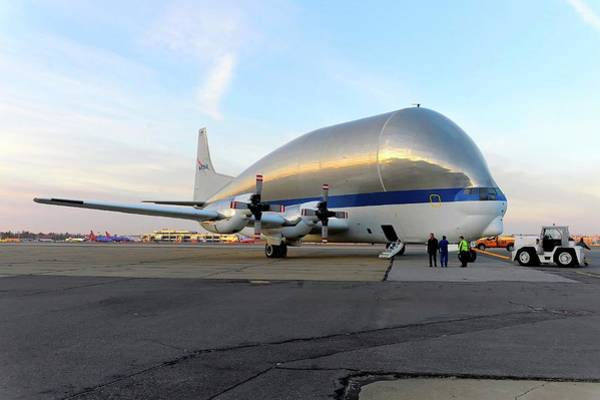 Wall Art - Photograph - Super Guppy Turbine Cargo Aircraft by Nasa/science Photo Library
