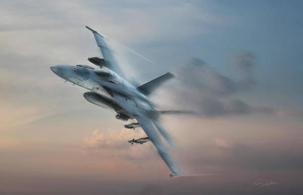 A-18 Hornet Wall Art - Digital Art - Super Hornet by Peter Chilelli