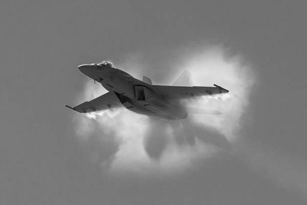 Super Hornet Shockwave Bw Art Print