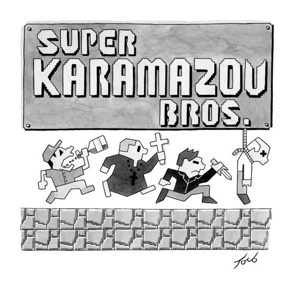 Parody Drawing - Super Karamazov Bros. -- A Parody Of Mario by Tom Toro