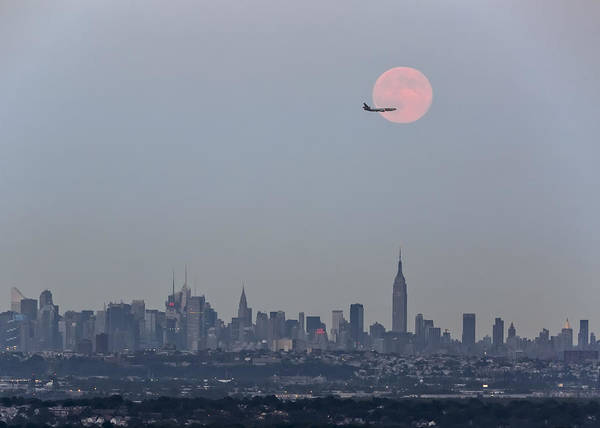 Wall Art - Photograph - Super Moon Over New York City by Eduard Moldoveanu