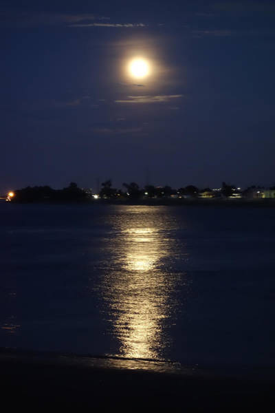 Photograph - Super Moon Over The Mississippi River In New Orleans by Louis Maistros
