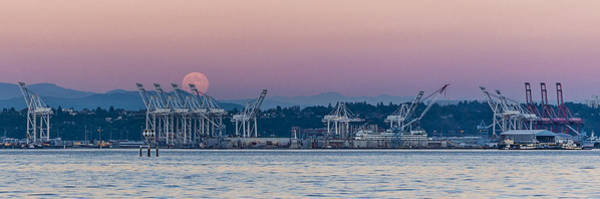Photograph - Super Moon Rise Panorama by Scott Campbell