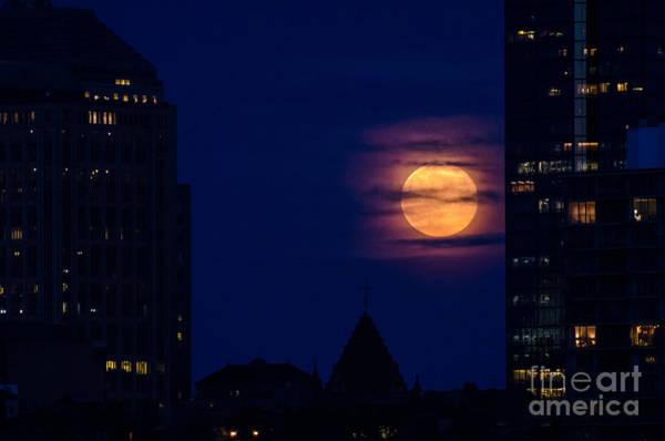 Super Moon Rises Art Print by Mike Ste Marie