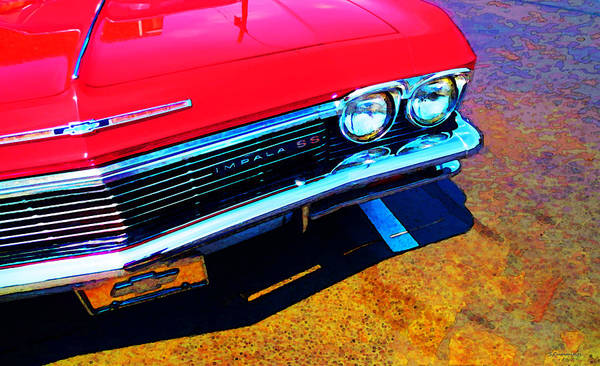 Chevy Wall Art - Painting - Super Sport 3 - Chevy Impala Classic Car by Sharon Cummings