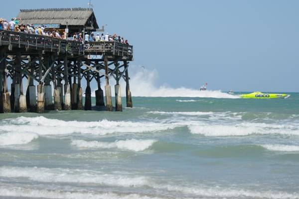 Photograph - Superboats - Cocoa Beach Pier by Bradford Martin
