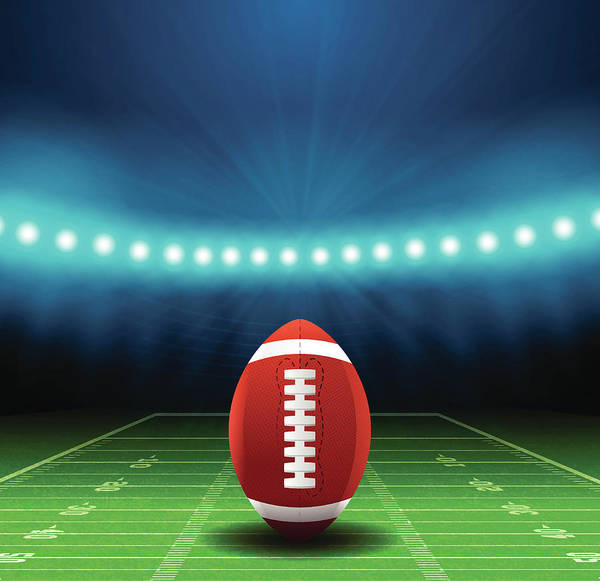 Vertical Line Digital Art - Superbowl Football Field Background by Filo