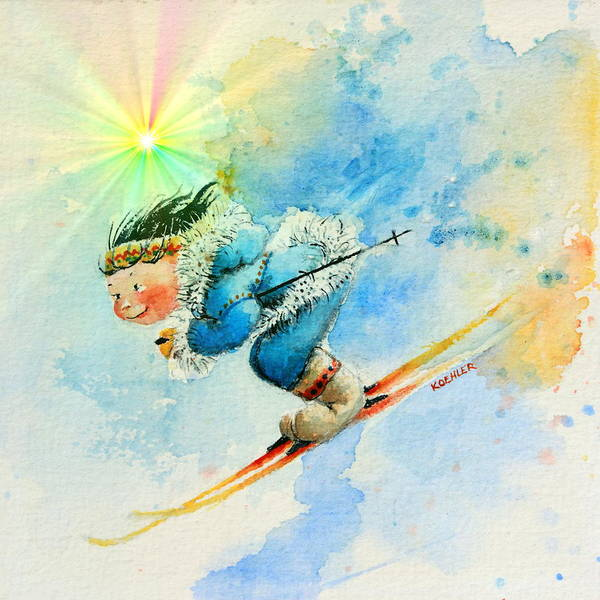 Inuit Painting - Superg Speed by Hanne Lore Koehler