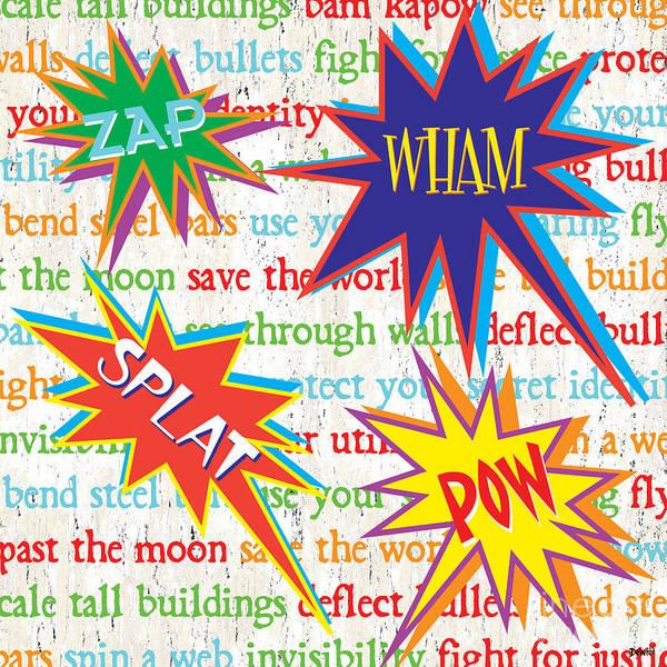 Wall Art - Painting - Superhero 1 by Debbie DeWitt