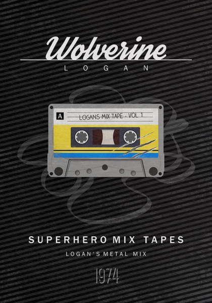 Claws Digital Art - Superhero Mix Tapes - Wolverine by Alyn Spiller