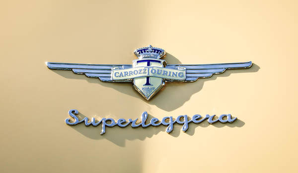 Photograph - Superleggera Emblem -0611c by Jill Reger