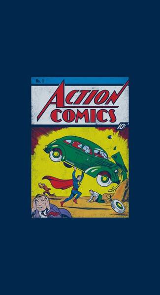 Metropolis Digital Art - Superman - Action No. 1 by Brand A