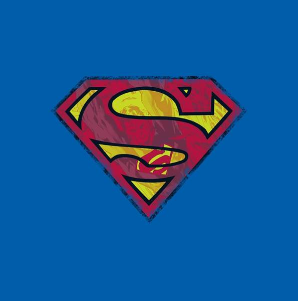 Man Of Steel Wall Art - Digital Art - Superman - Action Shield by Brand A