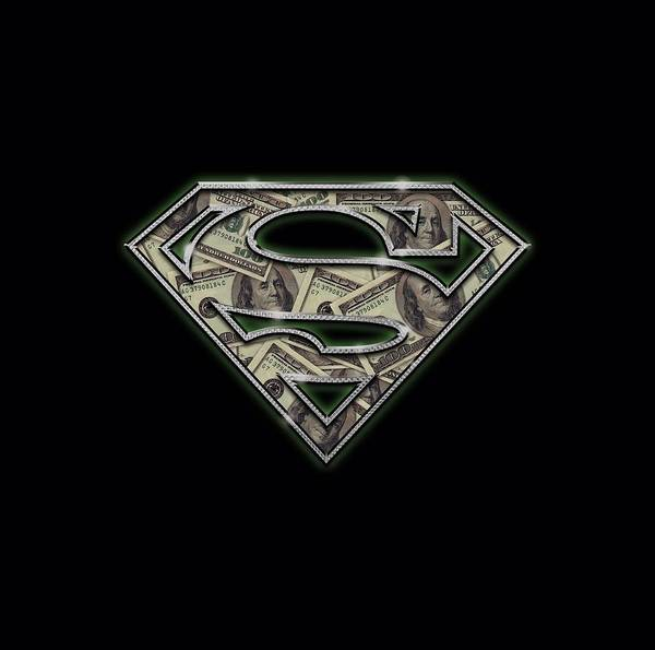 Metropolis Digital Art - Superman - All About The Benjamins by Brand A