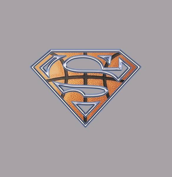 Metropolis Digital Art - Superman - Basketball Shield by Brand A