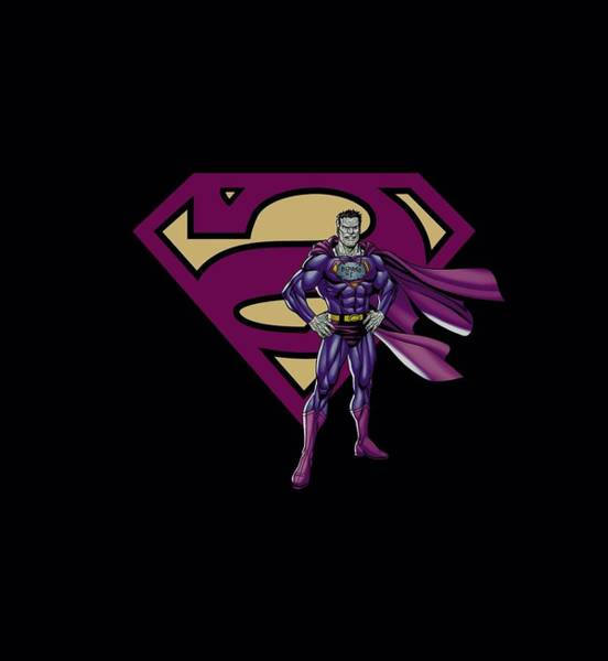 Metropolis Digital Art - Superman - Bizarro And Logo by Brand A