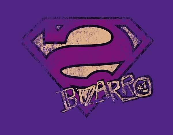 Metropolis Digital Art - Superman - Bizarro Logo Distressed by Brand A