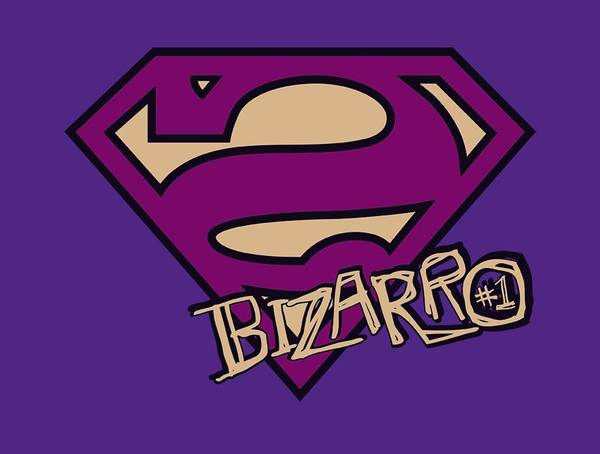 Metropolis Digital Art - Superman - Bizarro Shield by Brand A
