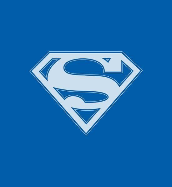 Metropolis Digital Art - Superman - Blue And White Shield by Brand A