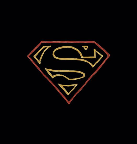 Metropolis Digital Art - Superman - Colored Shield by Brand A