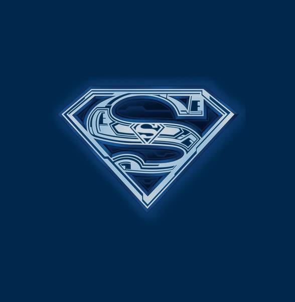 Metropolis Digital Art - Superman - Cyber Shield by Brand A